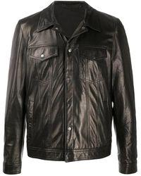 Salvatore Santoro Leather JKT - Noir