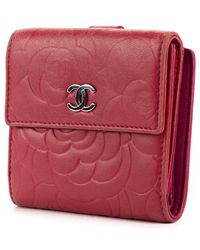 Chanel Vintage Bi-fold Portemonnee - Roze