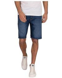 Levi's Levis 36512 0092 - 501 Hemmed Short Shorts And Bermudas Men Denim Dark Blue - Blauw