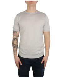 John Smedley T-Shirt Gris - Azul
