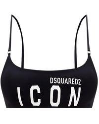 DSquared² - Logo Bikini Top - Lyst