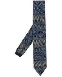 Missoni Knitted Tie - Grijs