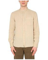 Woolrich Overhemd Met Koreaanse Kraag - Bruin