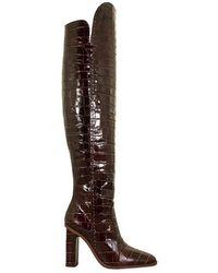 Max Mara Boot Crocodile-print Leather - Bruin