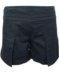 Neil Barrett Shorts with Pleats - Noir
