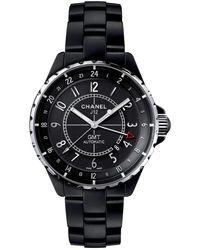 Chanel J12 GMT Watch - Noir
