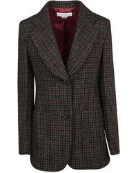 Victoria Beckham Fitting Jacket With Applied Pockets - Gris
