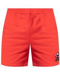 Helmut Lang Printed Sweat Shorts - Rood