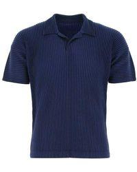 Issey Miyake Polo shirt Azul
