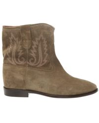 Isabel Marant Crisi Stitched Ankle Boots - Groen