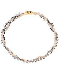 Marni Crystal Threaded Interwoven Necklace - Naturel