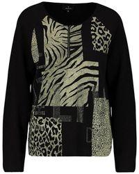 Monari O-neck Knitwear - Zwart