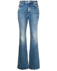 The Attico Flared Washed Jeans - Blauw