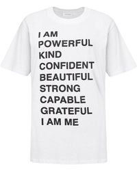 Anine Bing Lili Stuk Empowerment T-shirt - Wit