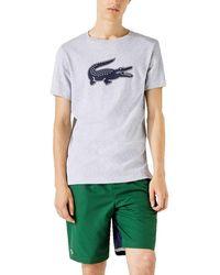 Lacoste Camiseta Logo 3D - Grigio