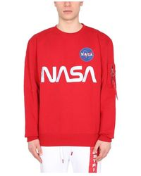 Alpha Industries Nasa Sweatshirt - Rosso