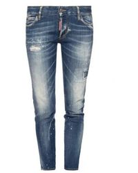 DSquared² Strech Jeans Stitching - Blauw