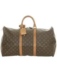 Louis Vuitton - Tela Keepall con monogramma 50 - Lyst