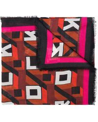 Zadig & Voltaire Patterned Shawl - Rood