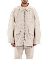 Fear Of God Logo print maxi jacket - Neutre