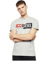 DIESEL 00sdp1 0091a T-diego Cuty T Shirt And Tank Unisex Light Grey - Grijs