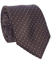 Lanvin Cravate de motif de point - Marron