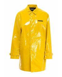DSquared² Slogan-print Rain Coat - Geel