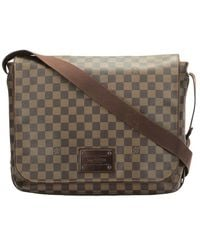 Louis Vuitton Pre-owned Damier Ebene Brooklyn Gm Icoated - Bruin