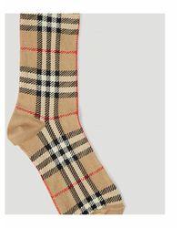 Burberry Vintage Check Intarsia Socks Beige - Neutro