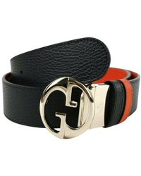 Gucci Reversible Leather Belt - Zwart