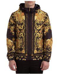 Versace Jeans Couture Men's Outerwear Jacket Blouson Hood - Zwart