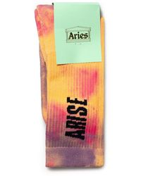 Aries Tie Dye Socks - Roze