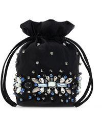 Ganni Appliquéd hand bag - Nero