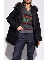 Yves Salomon Hooded down jacket - Noir