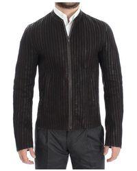 Dolce & Gabbana Leather Jacket Biker Coat - Marrone