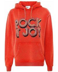 Leon & Harper Rock joy hoodie - Rouge