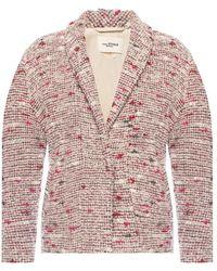 Étoile Isabel Marant Tweed Jacket With Belt - Roze