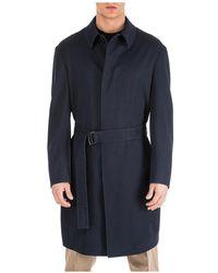 Emporio Armani Men's Wool Jas Overjas - Blauw