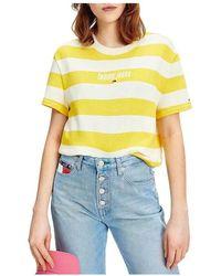 Jane Kønig Camiseta T-shirt Stripe - Geel