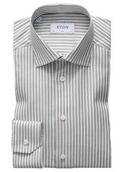 Eton Slim Fit Overhemd - Bruin