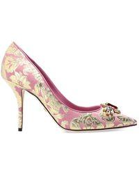 Dolce & Gabbana Stiletto Pumps With Logo - Roze