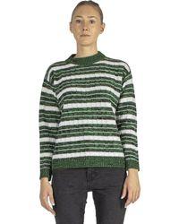 Plan C Striped Sweater - Groen