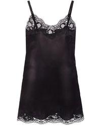Dolce & Gabbana Lace Bijgesneden Top - Zwart
