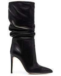 Paris Texas Stiletto Slouchy Boot - Zwart