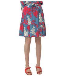 Calvin Klein Skirt with Floral Print - Blu