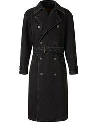 DIESEL Delirious trench coat - Negro