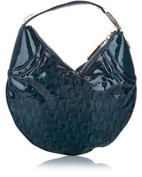 Gucci Bolso hobo Horsebit Glam de charol Azul