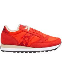 Saucony Women's Shoes Suede Trainers Sneakers Jazz O - Rood