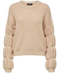 SELECTED Pullover Überschnittene Schultern - Naturel