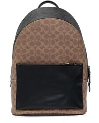 COACH Backpack With Logo - Bruin